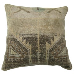 Turkish Oushak Rug Pillow