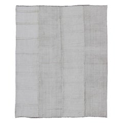 Turkish Paneled Kilim Vintage Rug in Off-White