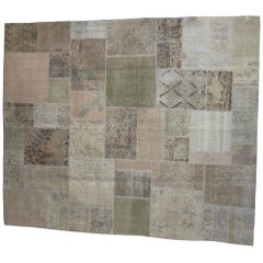 Turkish Patchwork Carpet Made from Antique and Vintage Rugs