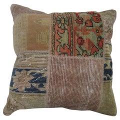 Turkish Patchwork Rug Pillow