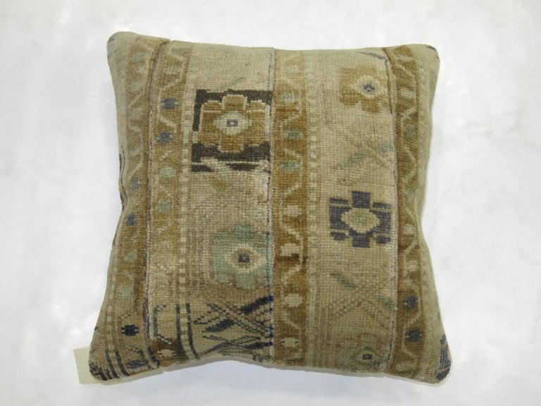 Organic Modern Turkish Rug Pillow For Sale