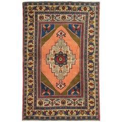 Turkish Rugs, Oriental Vintage Rugs Caucasian Handmade Carpet Traditional Rug