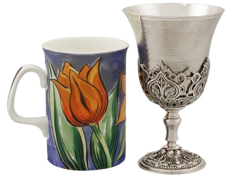 Turkish Silver Goblets, Antique, circa 1880 In Excellent Condition For Sale In Jesmond, Newcastle Upon Tyne