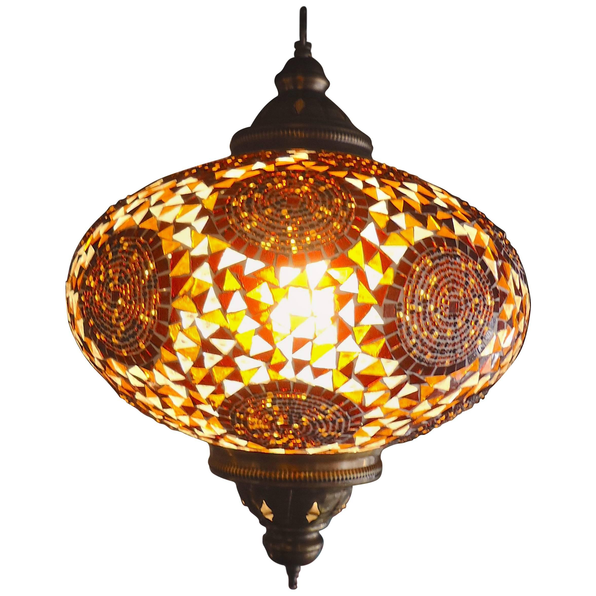 Turkish style glass pendant lamp