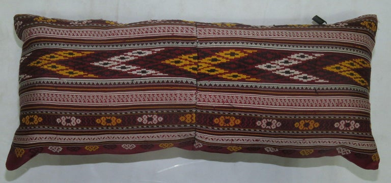 Chinoiserie Turkish Texile Bolster Rug Pillow For Sale