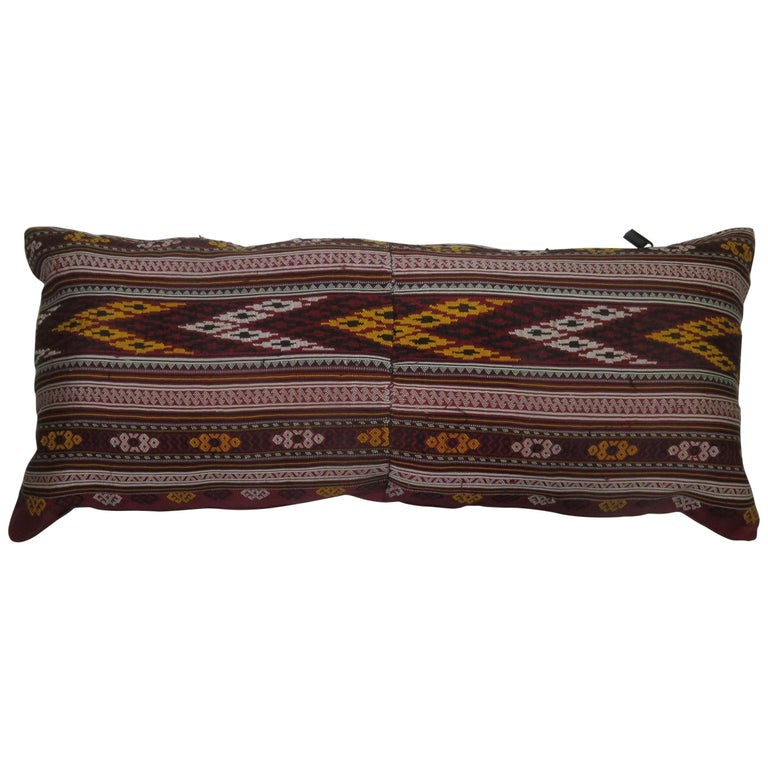 Turkish Texile Bolster Rug Pillow For Sale