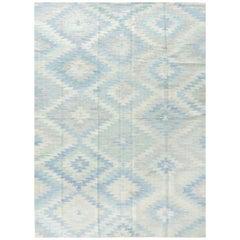 Turkish Tisse Kilim Flat-Weave Rug