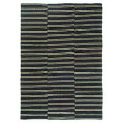 Turkish Tisse Kilim Flat-Weave Rug
