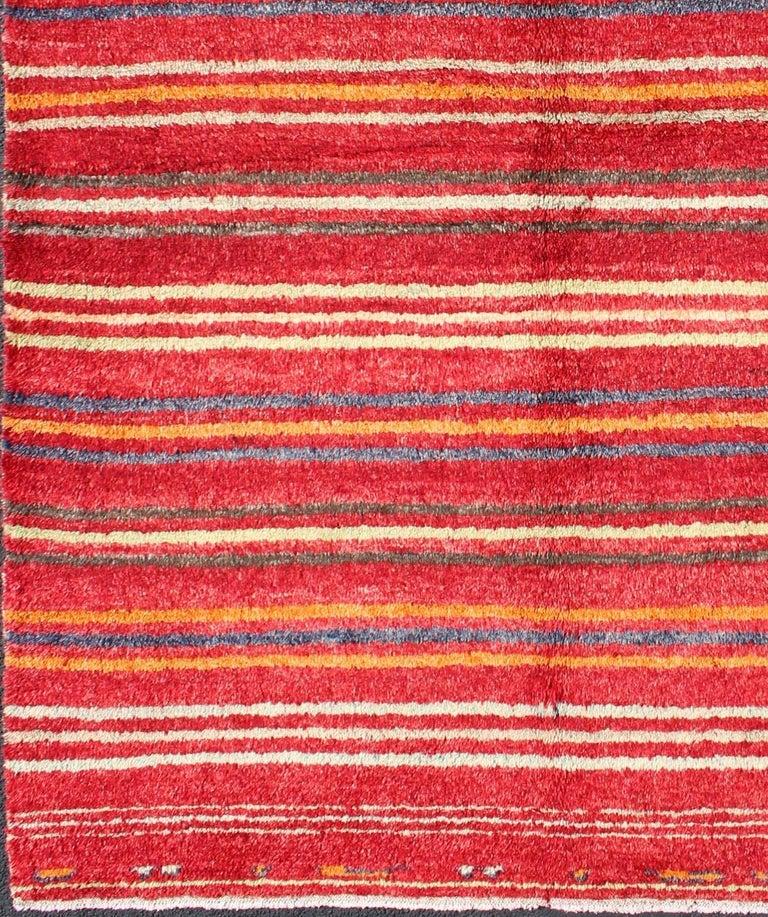 Red Black And Cream Striped Carpet Carpet Vidalondon