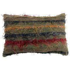Turkish Tulu Filiki Rug Pillow