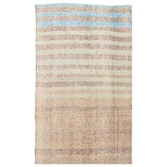 Turkish Vintage Fabric Kilim Rug, 8' x 12'