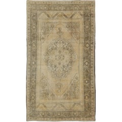 Turkish Vintage Oushak Carpet in Taupe, Gray and Ivory
