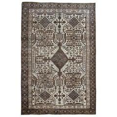 Turkish Vintage Rugs, Geometric Carpet Rugs, Handwoven Grey Rugs
