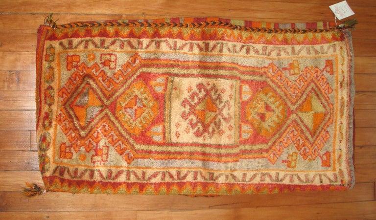 Asian Turkish Yastik Pillow Textile Rug Bag For Sale
