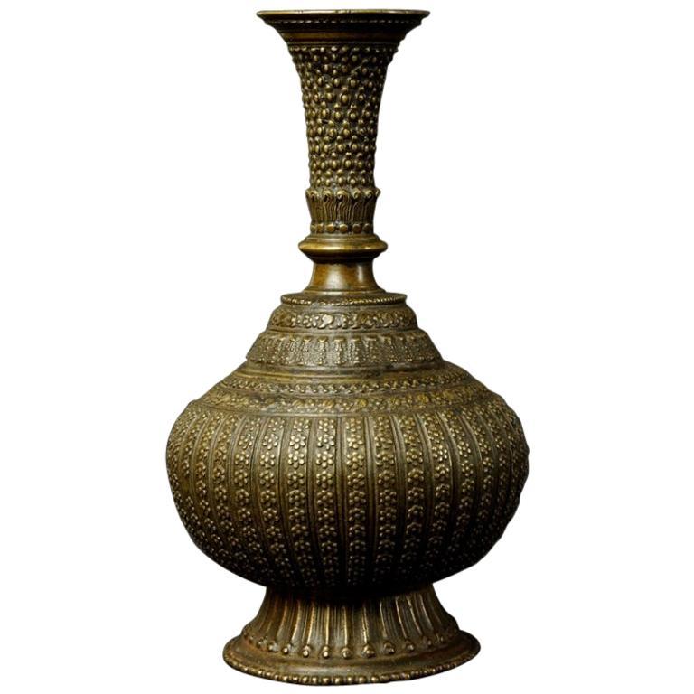 Turn of 19th-20th Century Bronze Arabic Vase