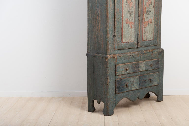 Late 18th Century Turn of the Century 18th-19th Swedish Rococo Cabinet For Sale