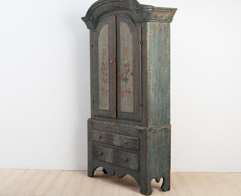 Pine Turn of the Century 18th-19th Swedish Rococo Cabinet For Sale