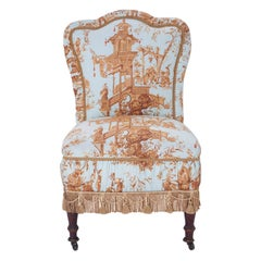 Turn of the Century Antique Slipper Chair