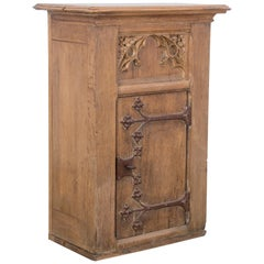 Turn of the Century Belgian Gothic Revival Cabinet