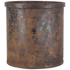 Turn of the Century Belgian Metal Patinated Grain Measure