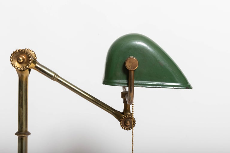 Turn-of-the-Century Brass Desk Lamp For Sale 2