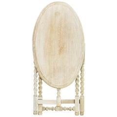 Turn of the Century British Folding Oak Side Table