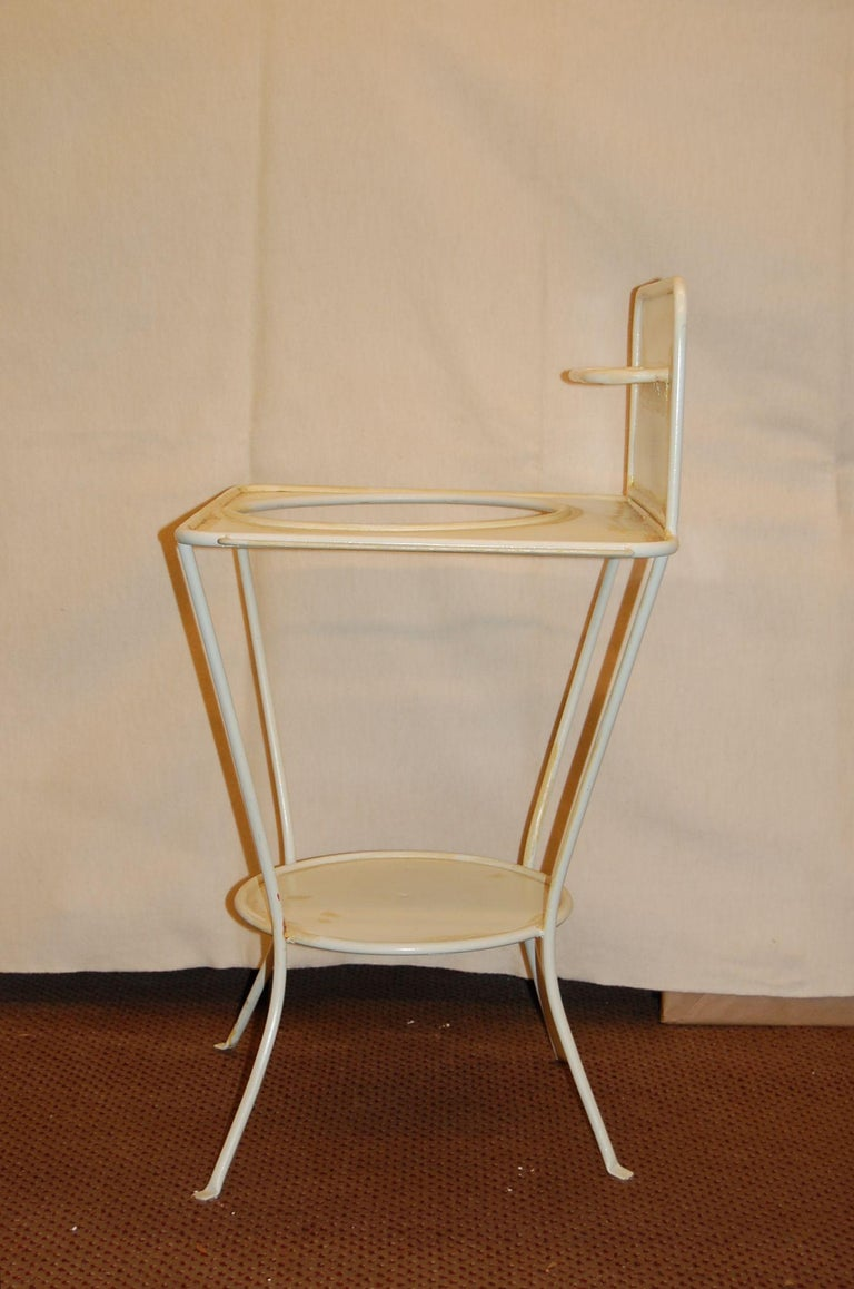 Edwardian Turn of the Century French Metal Wash Stand, circa 1900 For Sale