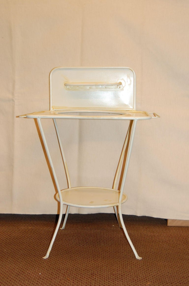 Turn of the Century French Metal Wash Stand, circa 1900 For Sale 1