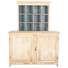 Turn of the Century French Patinated Wooden Cupboard