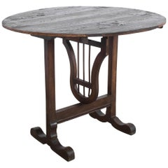 Turn of the Century French Wooden Wine Table