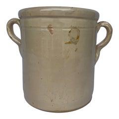Turn of the Century Italian Cream Earthenware Jar