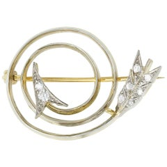 Turn-of-the-Century Spiral Arrow Brooch