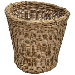 Turn-of-the-Century Wicker Basket, France, circa 1900