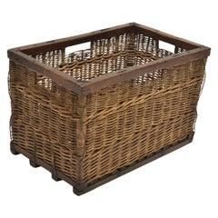 Turn-of-the-Century Wine Basket, Burgundy, circa 1900