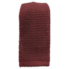 TURNBULL & ASSER Burgundy Silk Textured Knit Tie
