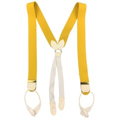TURNBULL & ASSER Solid Yellow Wool Suspenders