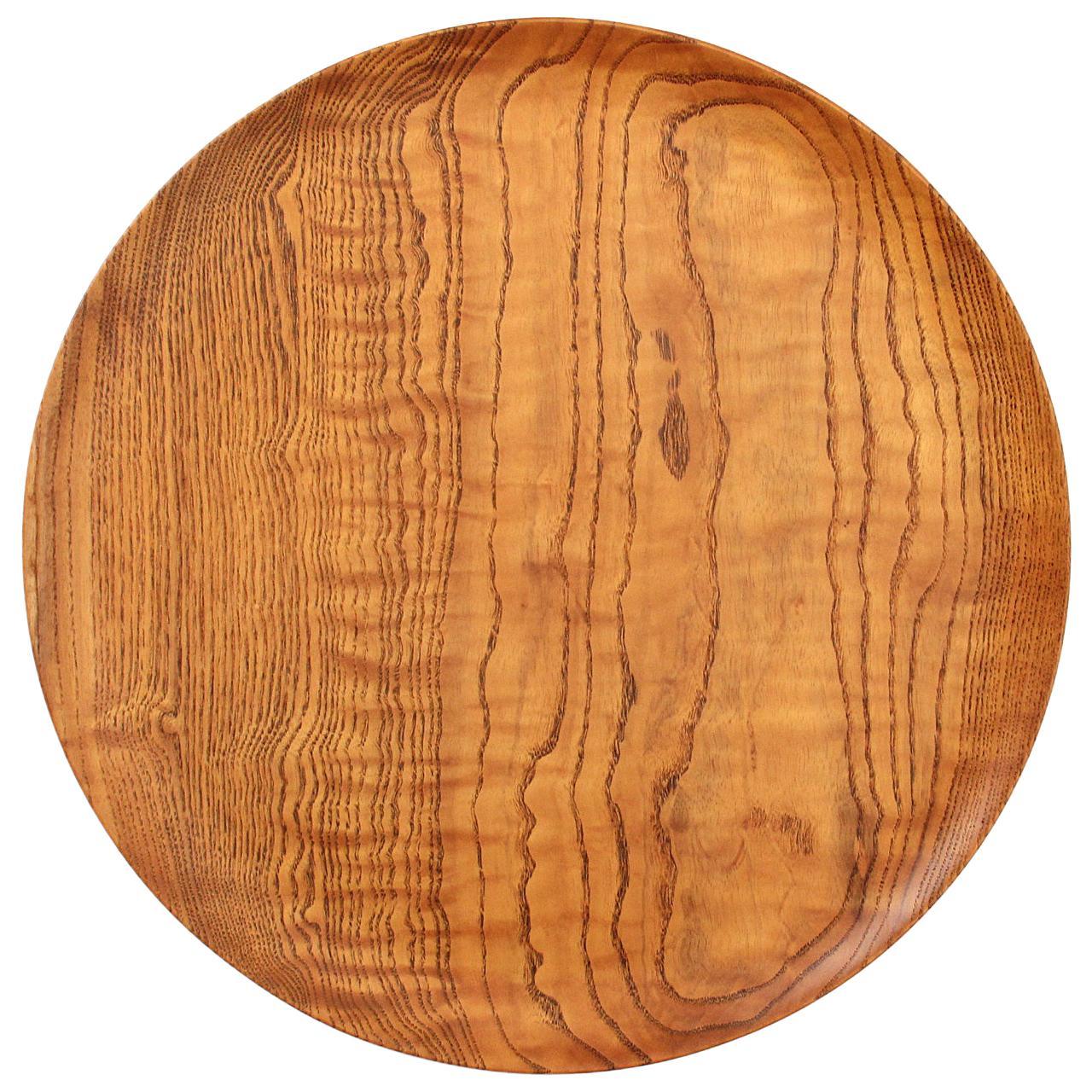 Turned Ash Platter by Bob Stocksdale