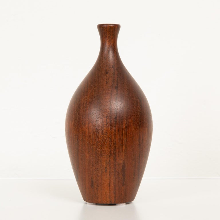 Turned Wood Bud Vase For Sale 1