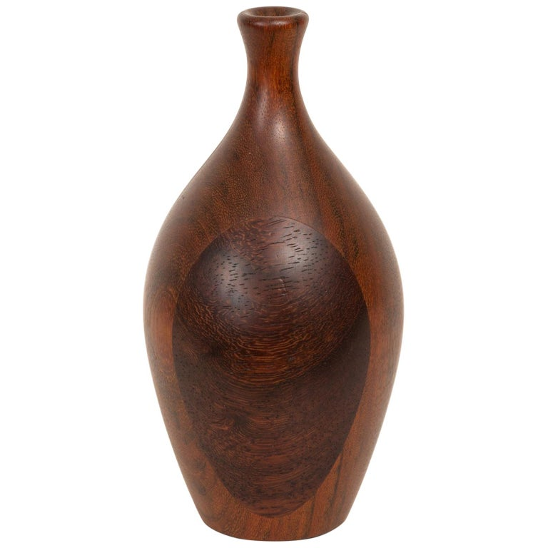 Turned Wood Bud Vase For Sale