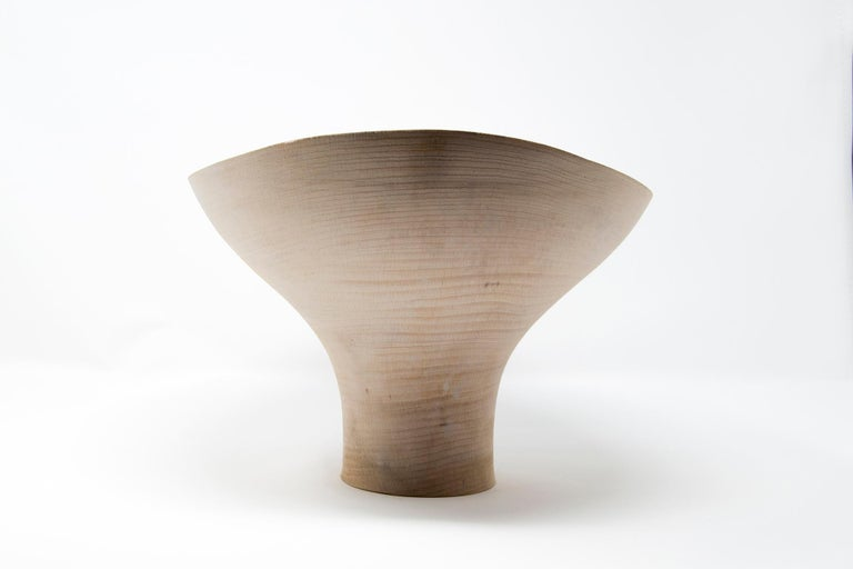 Turned Wood Centerpiece 'Fungo Natural' Made in Italy In New Condition For Sale In Milan, IT
