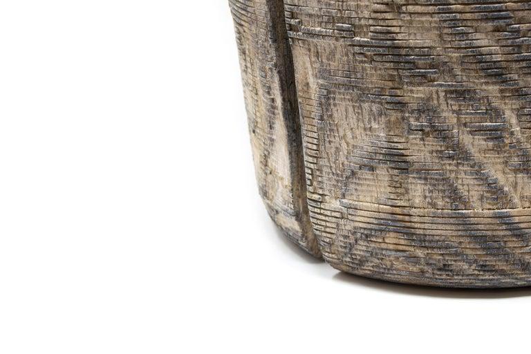 Contemporary Turned Wood Vase 'Alberi Short' For Sale