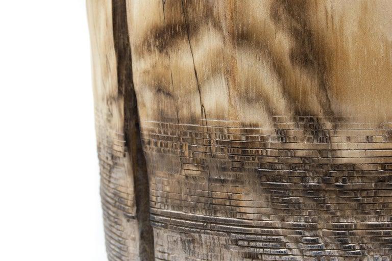 Turned Wood Vase 'Alberi Short' For Sale 1