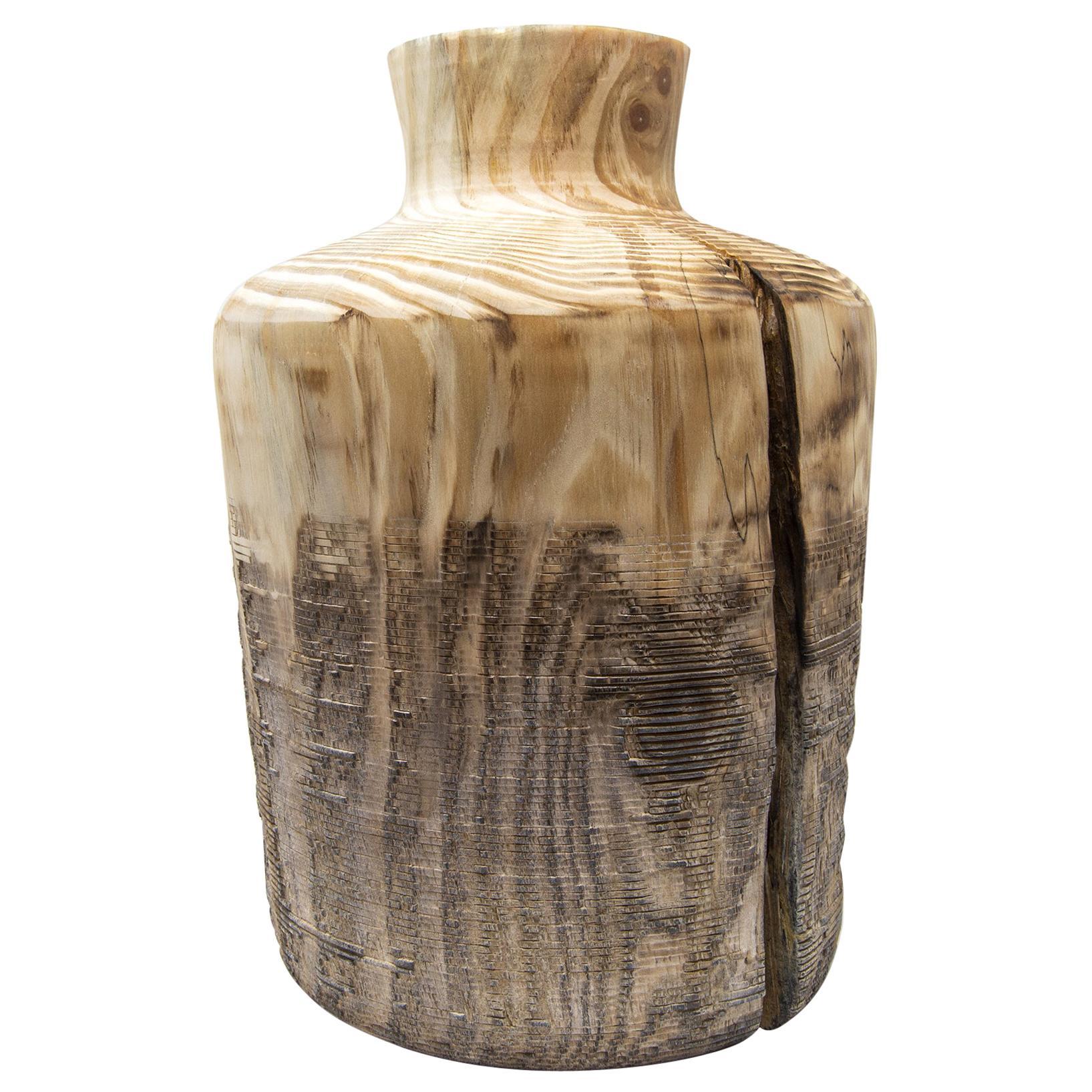 Turned Wood Vase 'Alberi Short'
