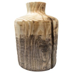 Turned Wood Vase 'Alberi Short'