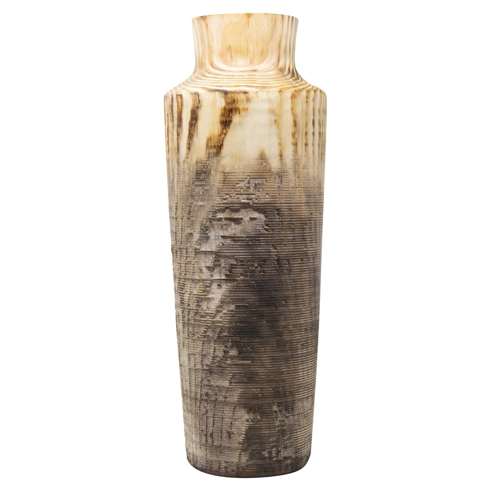 Turned Wood Vase 'Alberi Tall'