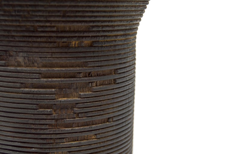 Contemporary Turned Wood Vase 'Anni L' For Sale