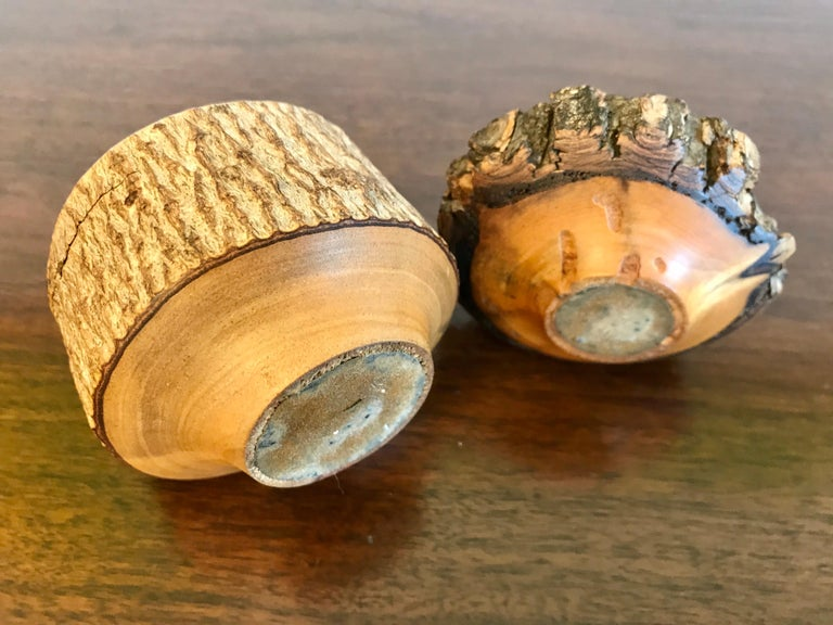 Turned Wood Weed Vases, 20th Century For Sale 8