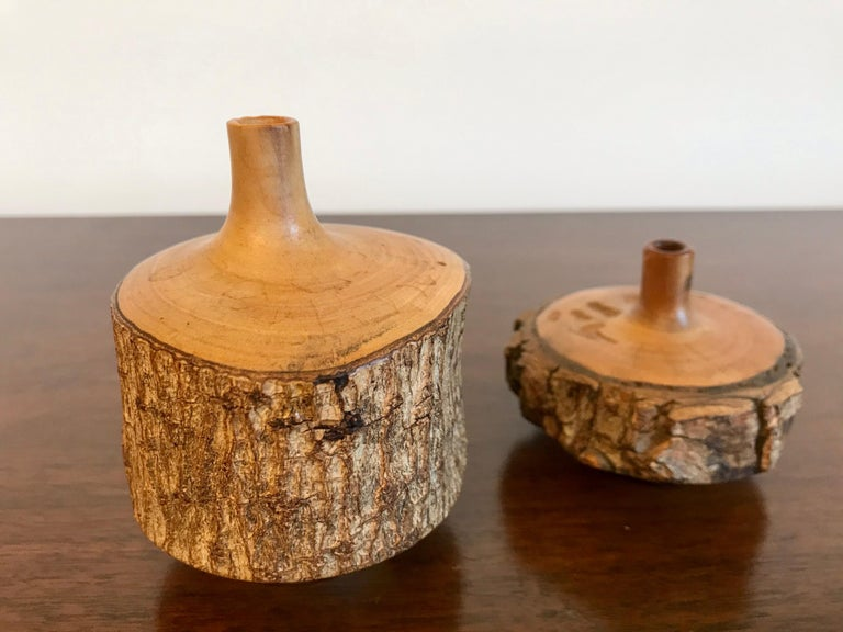 Turned Wood Weed Vases, 20th Century For Sale 2