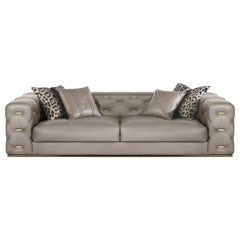 Turner 3-Seat Sofa in Leather by Roberto Cavalli