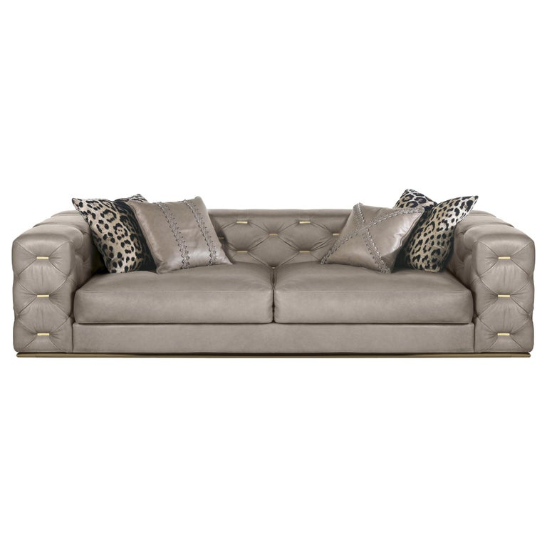 Seat Sofa In Leather By Roberto Cavalli